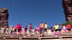 Тренировка с видом на мемориал