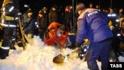 Спасательные работы в Кировске, Мурманская область РФ