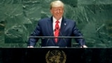 U.S. -- U.S. President Donald Trump addresses the 74th session of the United Nations General Assembly, Tuesday, Sept. 24, 2019.