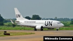 Боинг ООН (UTair) в аэропорту Джубы