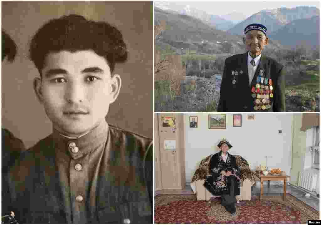 Кусталет Тасыбаев, 91. Казахский офицер служил в советской кавлерии с ноября 1943 по октябрь 1950. На момент окончания войны защищал советские интересы в Порт-Артуре