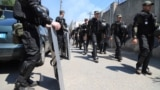 UKRAINE -- Ukrainian National Guard arrive at a penal colony during riots inside, in Odessa, May 27, 2019