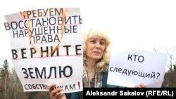 Галина Шергина на пикете в Томске (архивное фото)