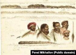 Набросок портретов жителей Таити