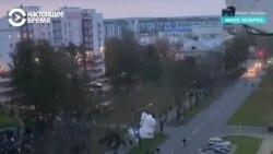 Силовой разгон протестного марша в Минске. Видео