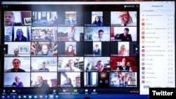Встреча кабинета министров Великобритании в сервисе видеозвонков Zoom