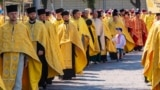 """UKRAINE – During the celebration of the 1030th anniversary of the baptism of Ukraine under the motto """"For a single autocephalous church"""". Kyiv, July 28, 2018"""