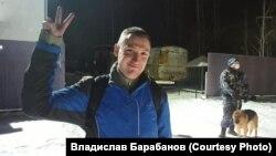Константин Котов после освобождения из колонии 16 декабря 2020 года