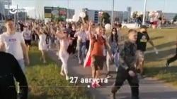 Как развивался протест в Гродно на западе Беларуси