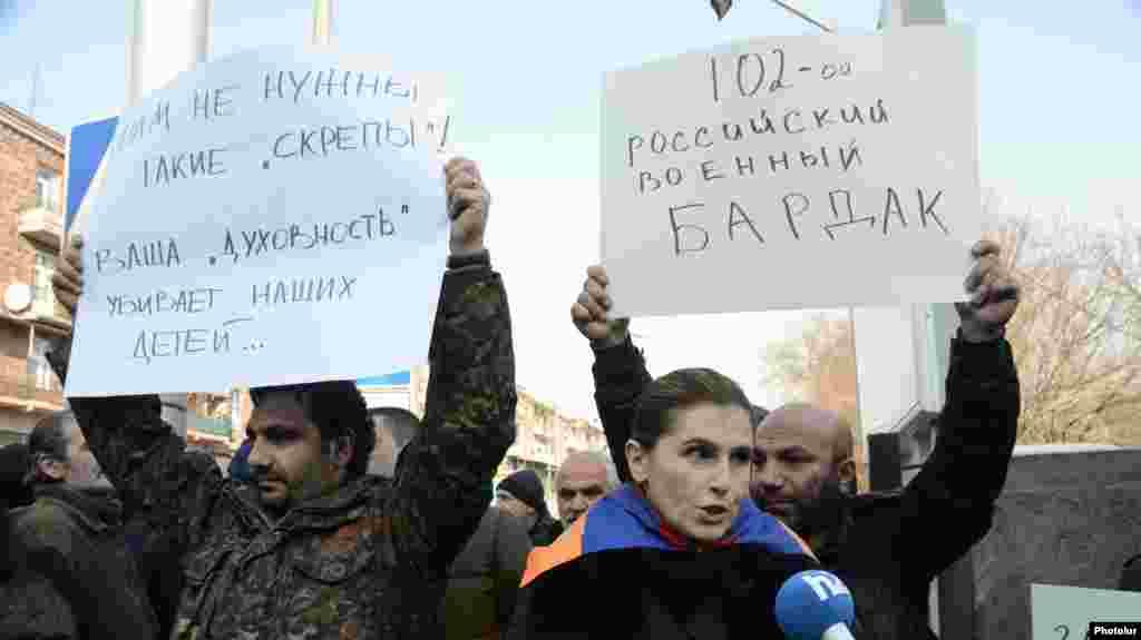 Армения - Акция протеста перед зданием посольства России в Ереване, 15 января 2015 г.