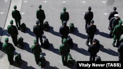 Conscripts in Russia's Kaliningrad Oblast