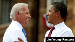 Байден с Бараком Обамой в 2008 году