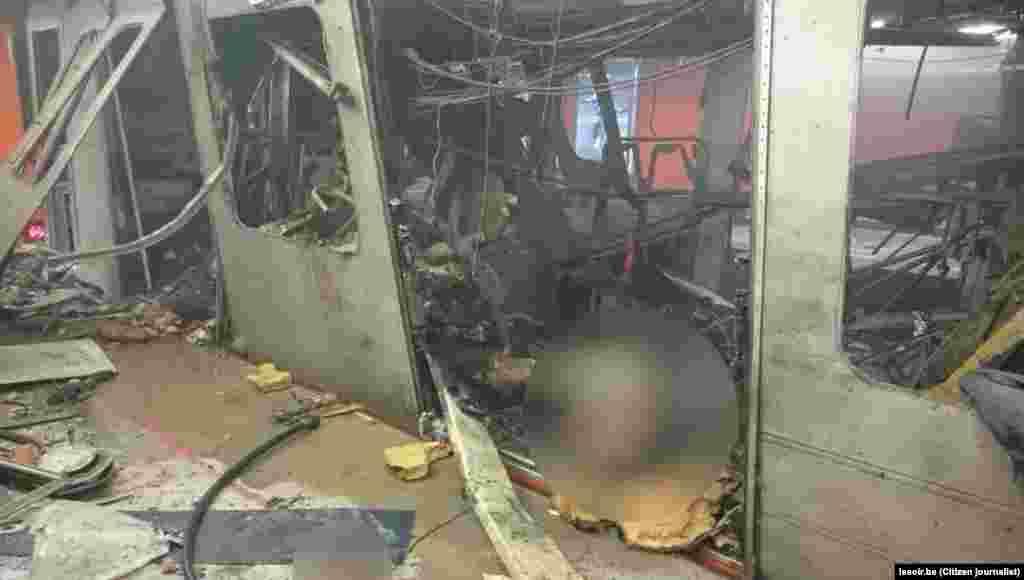 Последствия взрыва в метро