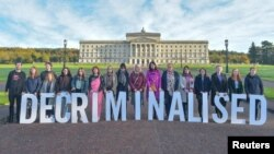 Активисты в Белфасте требуют отмены запрета абортов