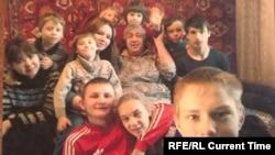 Любовь Лицегевич с детьми