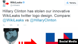 Wikileals says Hillary Clinton has stolen the logo
