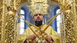 UKRAINE – Metropolitan Epifaniy (Dumenko), newly elected head of the Orthodox Church of Ukraine, at the St. Michael's Golden-Domed Cathedral in Kyiv, December 16, 2018