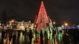 LATVIA-- Christmas tree, Vilnus, 28Nov2020