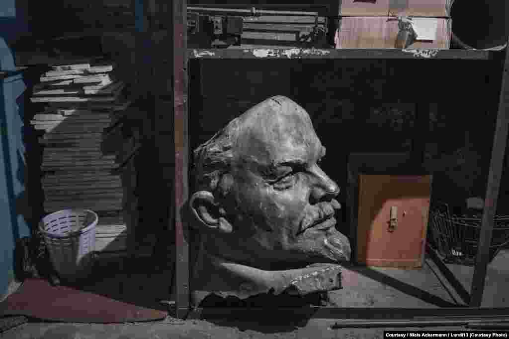 Голова Ленина в Национальном историческом музее в Днепропетровске