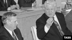 Ельцин и Анатолий Собчак в 1993 году