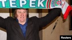 Жерар Депардье в Чечне в феврале 2013 года