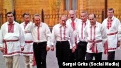 Президенты стран СНГ в вышиванках