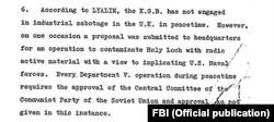 Фрагмент дела Лялина во внутренней переписке ФБР