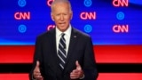 Detroit, Michigan - Former Vice President Joe Biden / Former Vice President Joe Biden speaks on the second night of the second 2020 Democratic U.S. presidential debate, July 31, 2019
