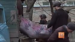 В Донецке похоронили 12 шахтеров, погибших на шахте им. Засядько