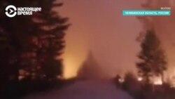 Сильные пожары в Челябинской области: спасают людей и животных