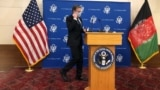 Afghanistan --- U.S. Secretary of State Antony Blinken during a Press conference in US embassy of Kabul