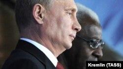 Ламин Диак с президентом РФ Путиным