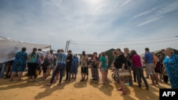 Лагерь украинских беженцев в Ростове, лето 2014 года