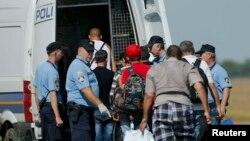 Мигранты прибывают в Товарник на сербско-хорватской границе