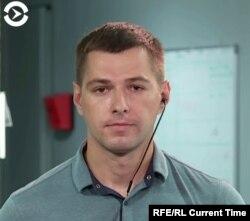 Current Time correspondent Raman Vasiukovich after his departure from Belarus