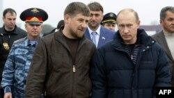 Рамзан Кадыров с Владимиром Путиным в Грозном