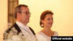 Свадьба Тоомаса Ильвеса и Иевы Купце, фото - официальный сайт президента Эстонии