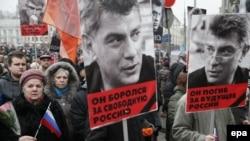 Траурный марш в Москве в память о Борисе Немцове