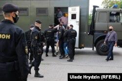 Задержания в Минске 15 июля 2020 года
