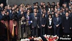 Траурные мероприятия в Армении в память о жертвах резни армян в Османской империи
