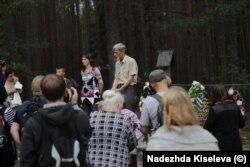 Юрий Дмитриев на Дне памяти в Сандармохе, 2016 год. Фото: Надежда Киселева