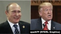 Владимир Путин и Дональд Трамп (коллаж)