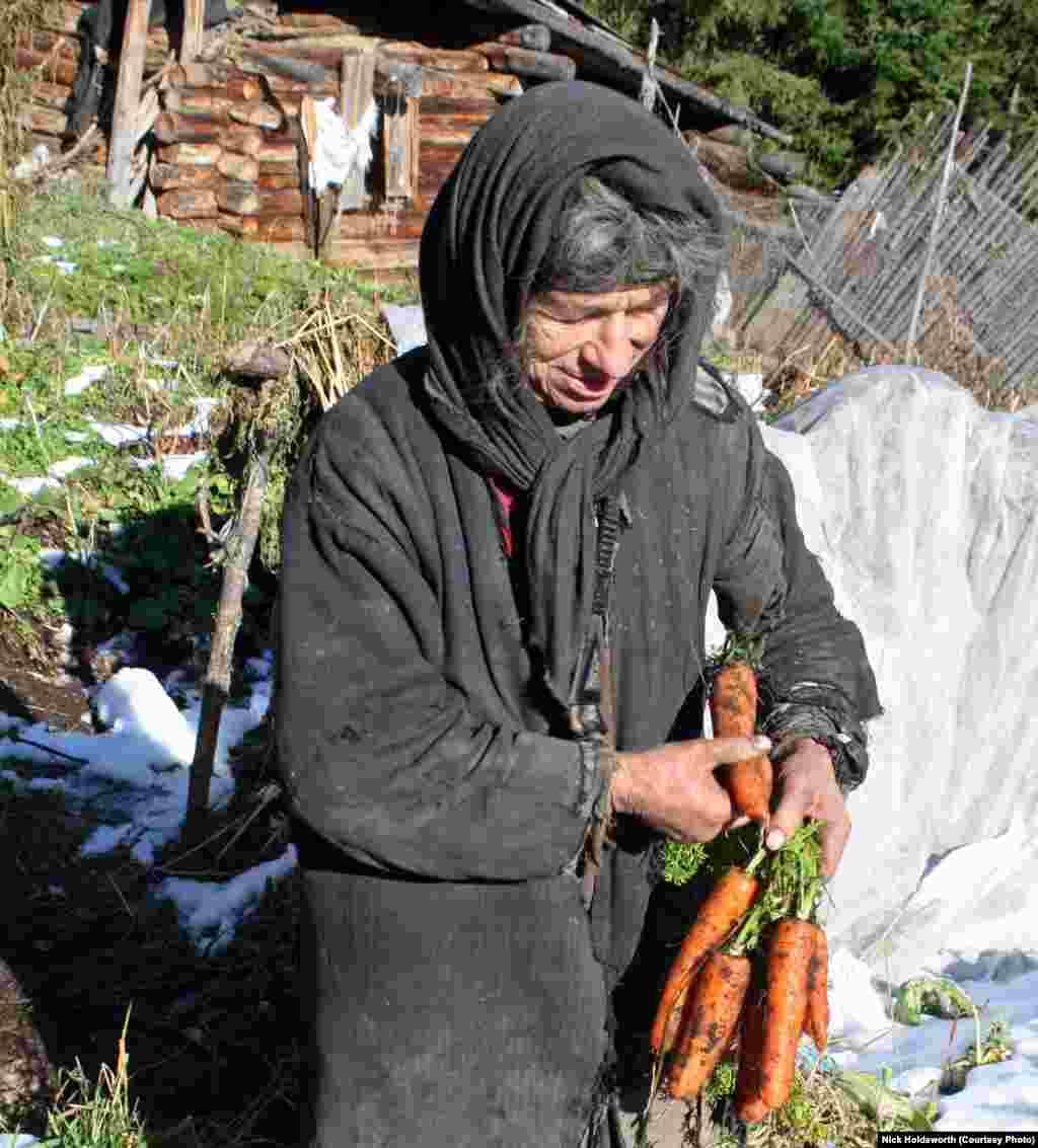 Несмотря на суровый сибирский климат, ее маленький огород дает неплохой урожай