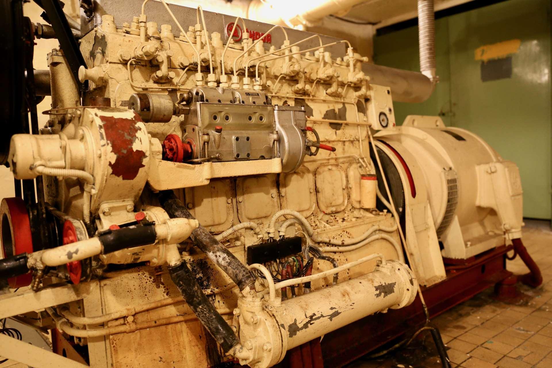 Дизельгенератор «Шкода» в бункере «Явор 51»