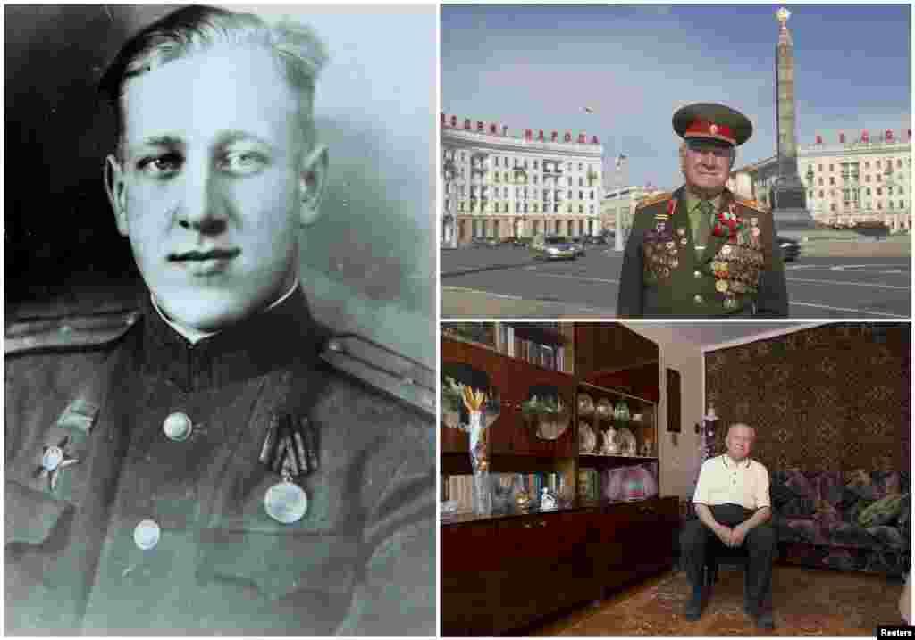 Николай Мазаник, 93. Белорусский офицер являлся командиром стрелкового полка Красной Армии с июня 1941 по май 1945. Окончание войны встретил в Кенингсберге (Калининград)