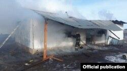 Пожар в Остемире, Казахстан, фото КЧС МВД Казахстана