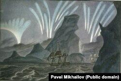 Российские судна вблизи берегов Антарктики