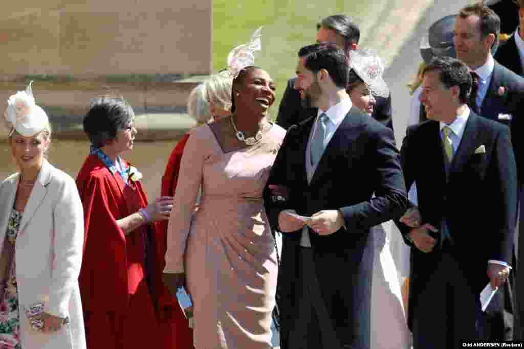 На свадьбу приехала теннисистка Серена Уильямс