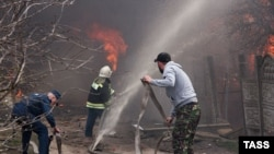 Пожар на складе пиротехники в Орле 23 апреля