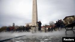 Место теракта в стамбульском районе Султанхамет